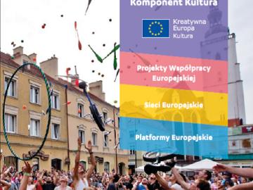 Ulotka informacyjna dotycząca trzech obszarów grantowych komponentu Kultura (2016) [plik pdf, 1330 KB]