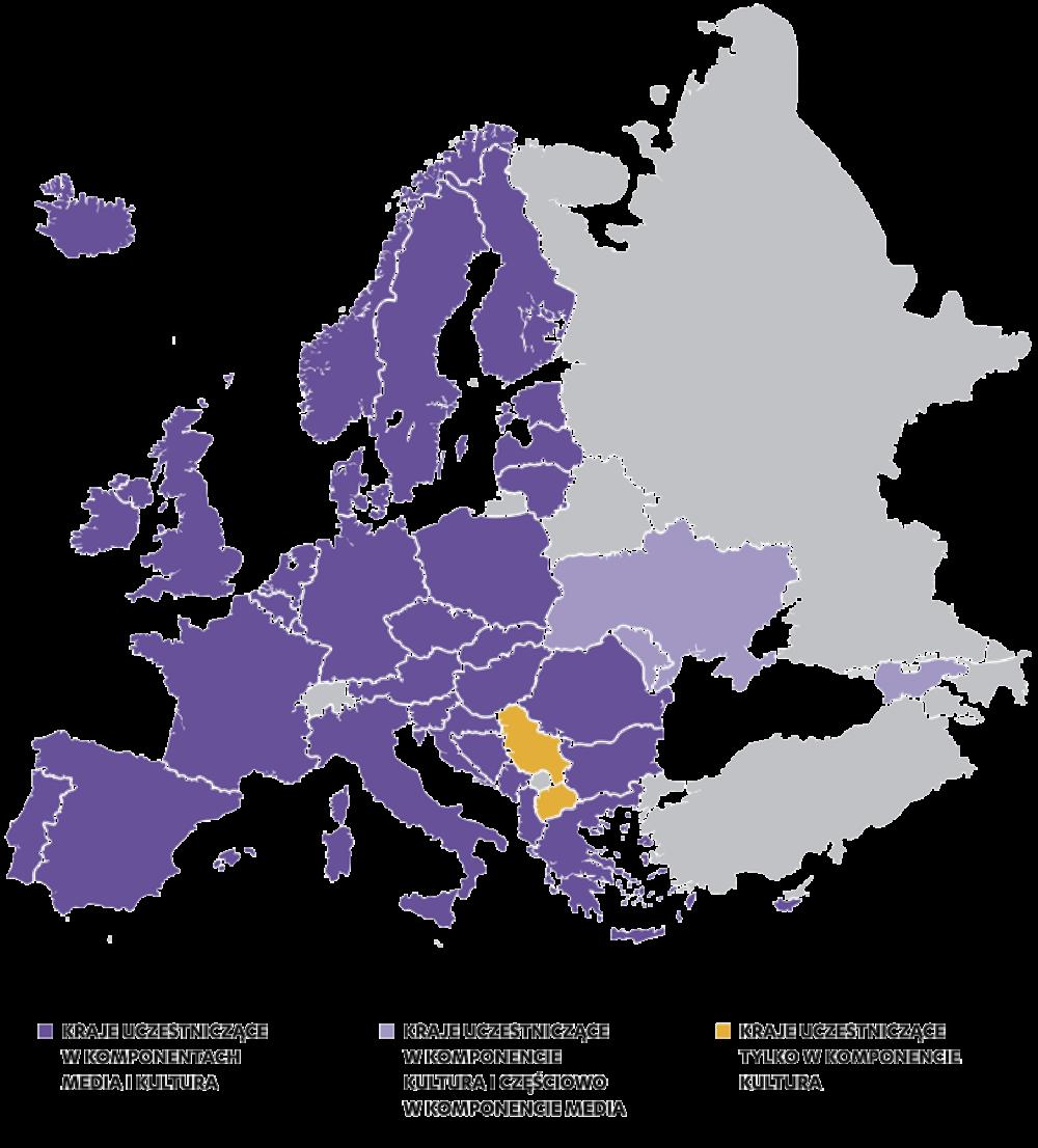 Zmiany na liście krajów uczestniczących w programie Kreatywna Europa