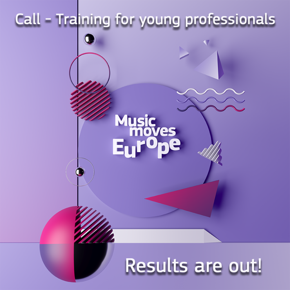 """Poznaliśmy wyniki naboru na pilotażowy program Music Moves Europe – """"Training scheme for young music professionals"""""""