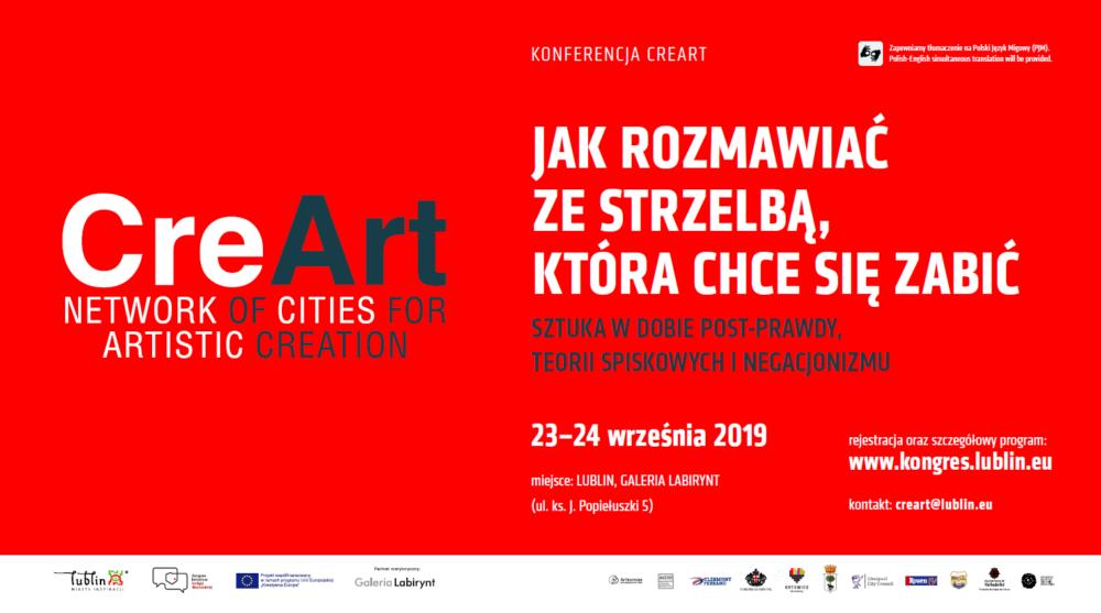 "Konferencja w ramach projektu ""CreArt. Network of Cities for Artistic Creation"""