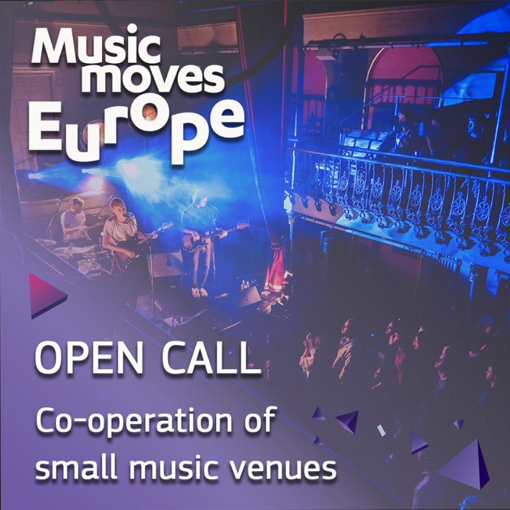 """Termin składania wniosków na realizację projektów """"Co-operation of small music venues"""" w ramach Music Moves Europe przedłużony"""