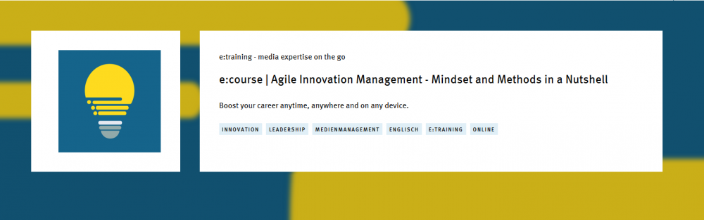 Nowy kurs online w ofercie EPI: 'Agile Innovation Management – Mindset and Works Modes in a Nutshell'