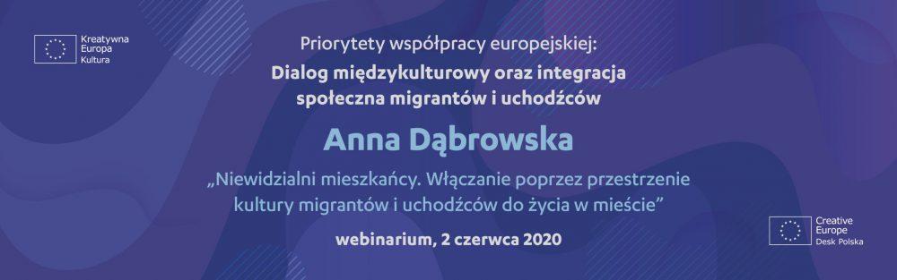 Formularz rejestracji na webinarium dot. dialogu międzykulturowego oraz integracji społecznej migrantów i uchodźców – 2 czerwca 2020