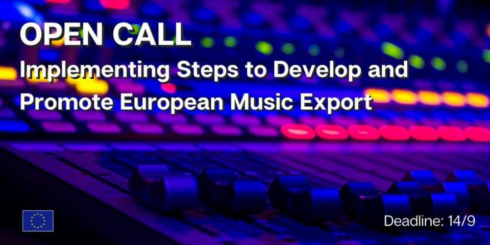 """Przetarg """"Implementing Steps to Develop and Promote European Music Export"""" w ramach pilotażowej inicjatywy Music Moves Europe"""