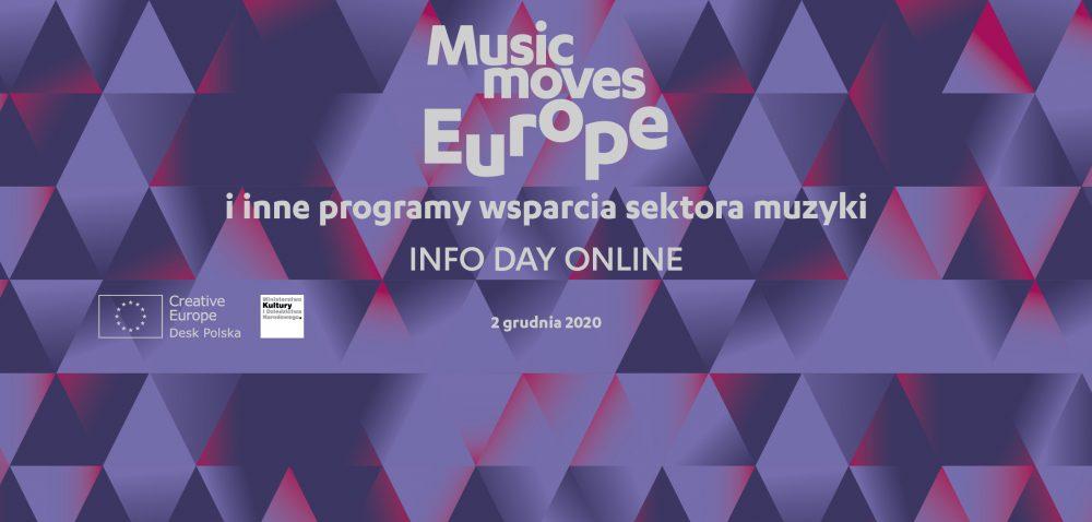 Music Moves Europe i inne programy wsparcia sektora muzyki – webinarium | 2 grudnia 2020