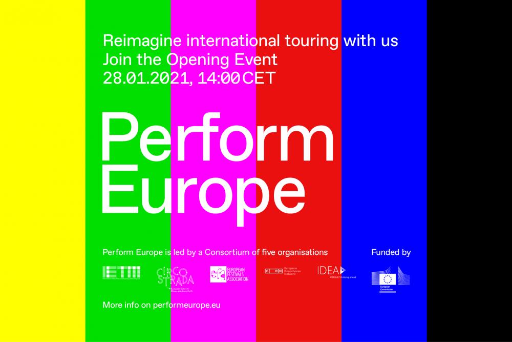 Perform Europe – otwarcie programu wsparcia dystrybucji sztuk performatywnych | 28 stycznia 2021