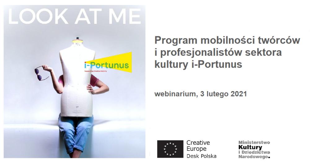 Program mobilności twórców i profesjonalistów sektora kultury i-Portunus – webinarium | 3 lutego 2021