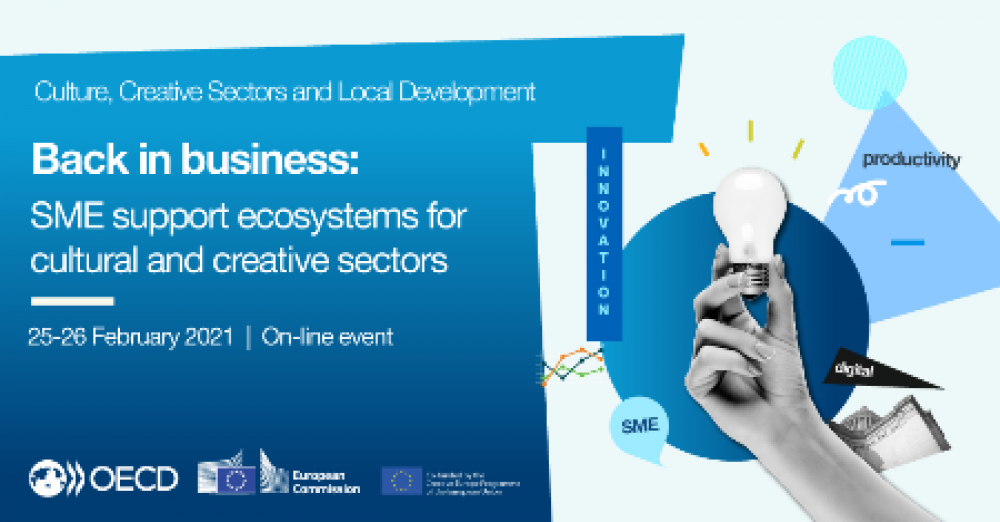 Webinarium Back in business: SME support ecosystems for cultural and creative sectors | 25-26 lutego 2021
