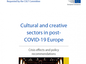 Cultural and creative sectors in post-COVID-19 Europe. Crisis effects and policy recommendations [plik pdf, 6,34 MB]