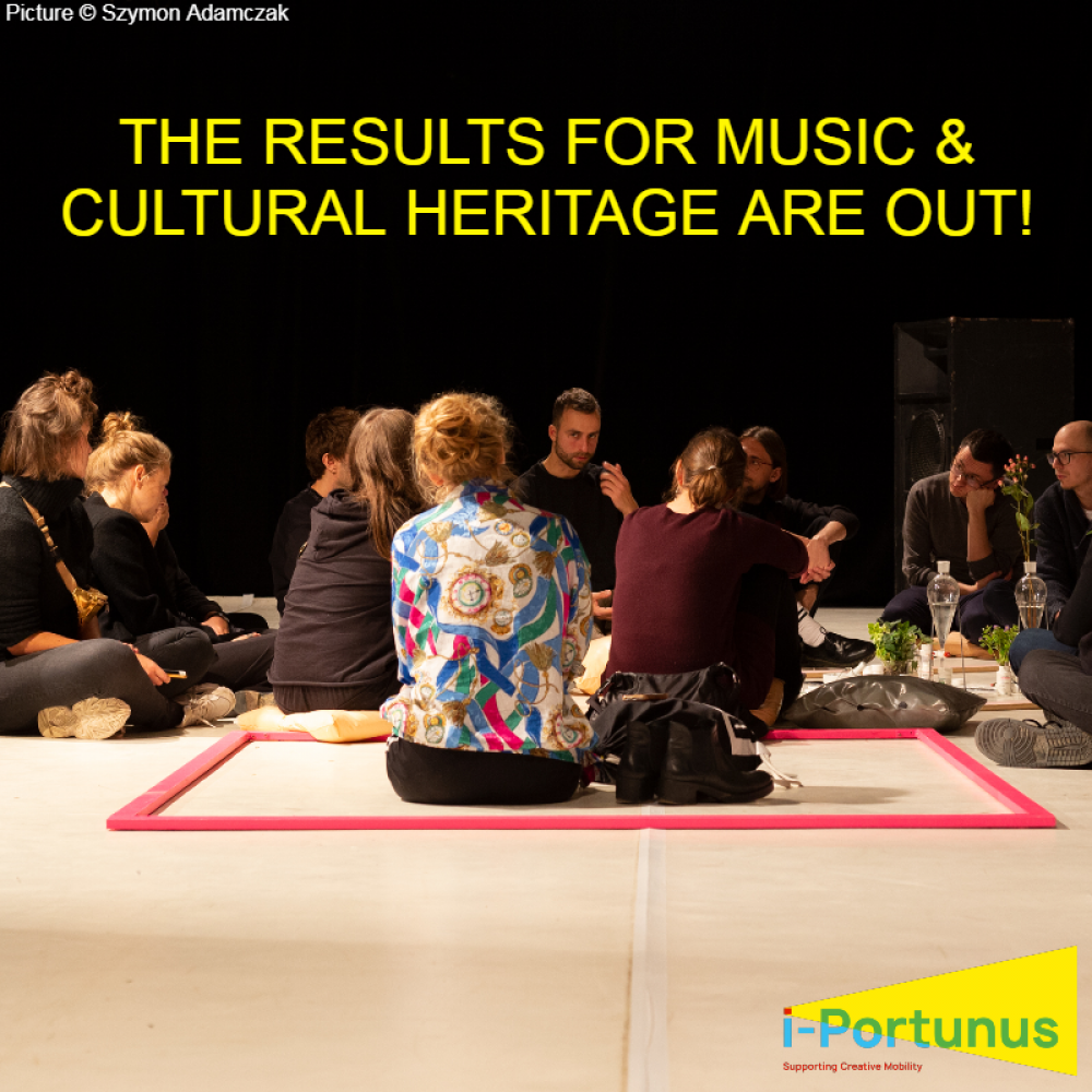 Wyniki naboru projektów w programie mobilności i-Portunus w obszarach muzyka (drugi konkurs) oraz dziedzictwo kulturowe